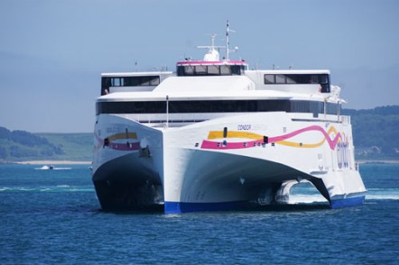 Condor Liberation, one 102m high-speed trimaran vehicle passenger ferry for Condor Ferries of the UK