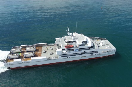 Sea trials for one 70m large crew transfer vessel - Rashid Behbudov for Caspian Marine Services of Azerbaijan