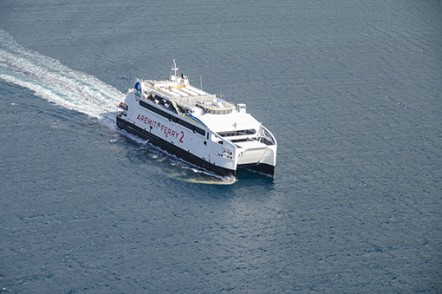 Aremiti Ferry 2, one 80m vehicle passenger ferry for Aremiti Ferries of French Polynesia