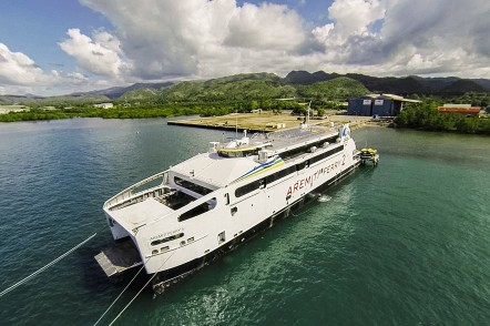 Aremiti Ferry 2 alongside at Austal philippines shipyard in Balamban, Cebu
