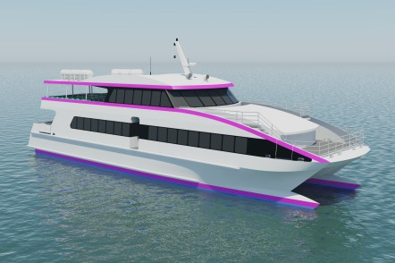 Render of the 30m high-speed passenger ferry for 2GO Group Inc o the Philippines