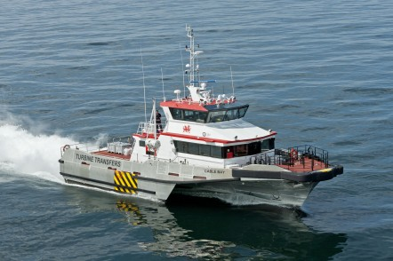 Austal Wind Express TRI SWATH 27 - Cable Bay, one 27m TRI SWATH wind farm support vessel for Turbine Transfer Ltd of Europe